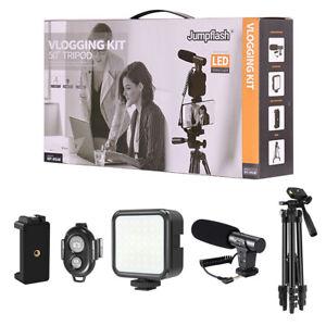Jumpflash Vlogging Kit LED Light Mobile Phone Video Selfie Stand Holder Tripod