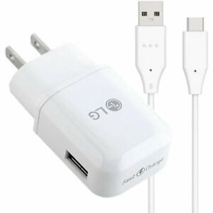 Original Genuine LG Rapid Charge USB Wall Charger + Cable Bundle V30, V40, V50