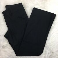 Banana Republic Factory Women's Black Straight Career Dress Pants Sz 10 Stretch