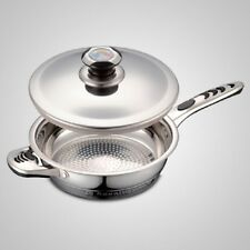 ROYALTY LINE COVERED DEEP SKILLET STAINLESS STEEL COOKWARE POT NEW BONUS TURNER