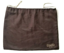COACH Dust Cover Bag Protector  Large 15 x 19 Brown Satin Ivory Drawstring