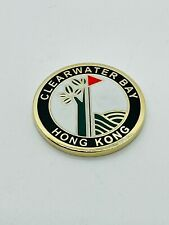 Clearwater Bay Golf Country Club Hong Kong Ball Marker Coin Metal Rare Mint Gold