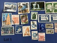 HUGE COLLECTION OF POSTAGE STAMPS MANY VINTAGE ALL PERIODS USA UK SPAIN ETC 1