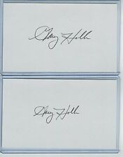 (2) GARY HOLLE INDEX CARD SIGNED 1979 TEXAS RANGERS PSA/DNA CERTIFIED