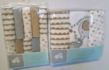 Just Born Baby Cotton Blend Hooded Towels & Washcloth Set Elephant/Multi Design