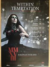 Within succomber 2018 Tour-orig. Concert Poster -- CONCERT AFFICHE a1 NEUF
