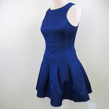 854856d4 ASOS Women Boned Blue A-Line Crew Neck Fit Flare Cocktail Party Dress Sz 6