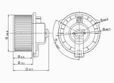 HVAC Blower Motor Front TYC 700051