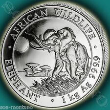 2016 KILO - Somalian African Wildlife Elephant - 1 Kg 32.15 Troy Oz .999 Silver