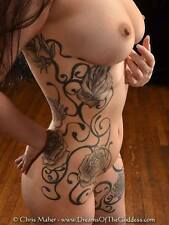 9422-DRL Beautiful Body Tattoo Rose Fillagree Fine Art Photograph signed Maher