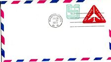 1971 EMBOSSED ENVELOPE AIR MAIL 10 & 1 CENTS PLANE IN TRIANGLE NO CACHET FDC