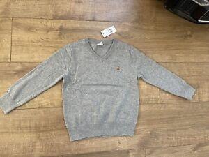 New Gap Boys Grey Cardigan Jumper Top Size 3-4 Years