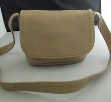 Vtg Coach Sonoma L5M 4919 Tan Khaki Pebbled Leather Small Flap Cross-Body Purse