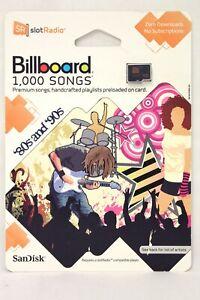 Sandisk Sansa Slot Radio Card Billboard 1,000 Songs 80's And 90's