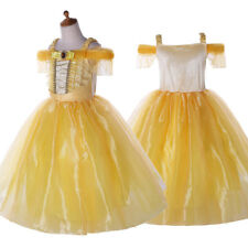 Kids Beauty and The Beast Belle Costume Princess Girls Party Fancy Dress Gown