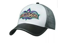 AUTHENTIC WWE Wrestlemania 34 White Grey Hat Adjustable