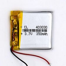 3.7 V 350mAh 403030 Li-Polymer Rechargeable Battery Liion LiPo Cell for GPS MP3