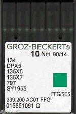 GROZ BECKERT MACCHINA DA CUCIRE INDUSTRIALE BALL POINT AGHI 134R DPX5 MISURA 14/