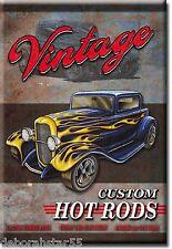 VINTAGE HOT ROD Sign Tool Box Fridge Magnet Metal Retro 50s Tin Sign MAGNET