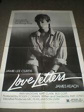 LOVE LETTERS - JAMIE LEE CURTIS - ORIGINAL POSTER - 1983 - AMY HOLDEN JONES