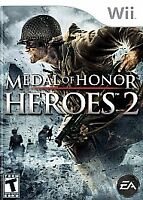 MEDAL OF HONOR HEROES 2 WII COMPLETE IN BOX W/ MANUAL CIB GOOD