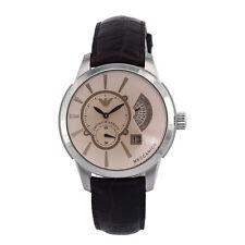 Orologio automatico da uomo Emporio Armani in acciaio e pelle ref. AR4604