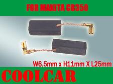Carbon Brushes For Makita CB350 194160-9 6.5X11X25mm HR4011C HR4001C 3210FCT