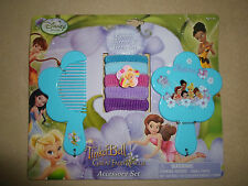 Disney Tinker Bell Hair Accessories Set (Comb, Mirror & Terries), NEW IN PACKAGE