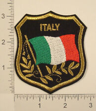 ITALY FLAG Italian Country Embroidered Souvenir Travel Shield PATCH