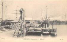 CARTAGENA, COLOMBIA ~ WHARF OVERVIEW, BOATS ~ dated 1913