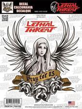Lethal threat Autocollant sticker moto casque pc guitare pray for us lt90192