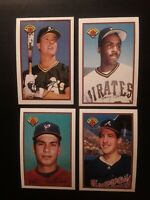 1989 Bowman MARK McGWIRE #197/BARRY BONDS #426/ROBIN VENTURA #65/JOHN SMOLTZ#266
