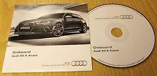 Genuine Audi RS6 Avant 2013-2015 Onboard CD Disco Manual Manual 142.565.4RA.88