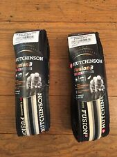 Hutchinson Fusion 3 Tubeless Road Bike Tire 700x23 Folding Bead Black/Gray/White