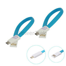 2 x Flat Magnet micro USB Data Sync Charger Cable for Samsung Galaxy S1 S2 S6