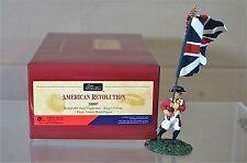 Britains 18007 Revolución Americana 80th británico pie flagbearer Reyes Color NJ