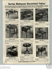 1955 PAPER AD Barton Mahogany End Table Cocktale Step Nested Corner Table Tables
