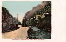 Utah postcard Ogden Canyon showing Ogden Water Supply Pipe pre-1907