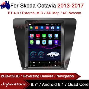 "9.7"" Tesla Style Android 8.1 gps 4g Car Stereo Navi For Skoda Octavia 2013-2017"