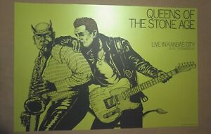 QUEENS of the STONE AGE Green Variant Poster Jermaine Rogers Print KC QOTSA