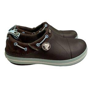 Crocs Crocband Gust Shoes Slip On size C 13 Espresso Brown Blue