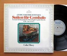 ARCHIV 2533 169 Handel Harpsichord Suites 1 3 6 & 7 Colin Tilney Gatefold NM/EX