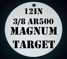 12in. AR500 Shooting Target - 3/8in Thk. Pistol/Rifle Target - 1pc. Steel Target