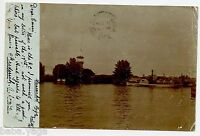 Riga Latvia  Russia Photo Postcard to Canada 1905. Lighthouse , Steamship
