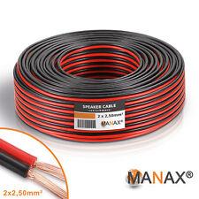 50m Lautsprecherkabel (Single-Wire) 2x2,5mm² CCA rot / schwarz Metermarkierung