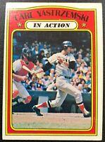"CARL YASTRZEMSKI 1972 TOPPS ""IN ACTION"" VINTAGE BASEBALL CARD #38"