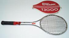 Wilson T 3000 Steel Tennisschläger L5 racket Stahl vintage leder racquet pro USA
