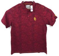Tommy Bahama Collegiate Series Mens USC Trojans Hawaiian Red Polo XXL Trim Fit