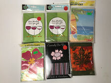LOT OF 6 INVITATION BIRTHDAY CARDS WINE BEACH SUMMER THEME