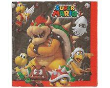 Súper Mario - fiesta de Cumpleaños alcance (vajilla globos & Decoración) Amscan 16 servilletas